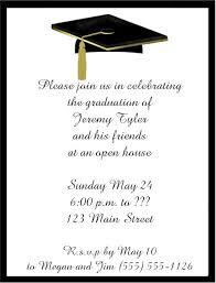 kindergarten graduation invitations black cap tassel graduation invitations
