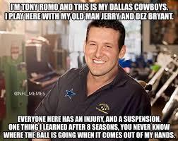 Funny Tony Romo Memes - 28 best memes of tony romo breaking a bone in his back sportige