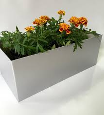 Metal Planter Box by Window Boxes Metal Garden Planters