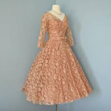 vintage lace wedding dress beautiful 1950 u0027s deep apricot tea