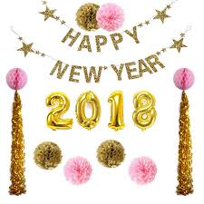 new year decoration 1set happy new year 2018 new year decoration supplies paper