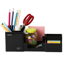Photo Desk Organizer deli 9118 plastic multi functional office box for stationery