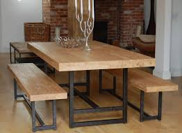 Industrial Style Dining Room Tables Modern Bench Style Dining Table Set Ideas Homesfeed Room