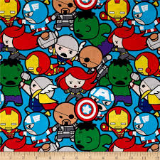 marvel kawaii all in the pack multi discount designer fabric
