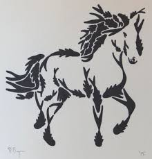mustang horse drawing trotting horse jpg david brigman