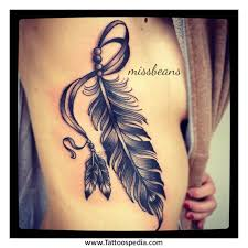 feather rose tattoo 1