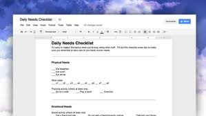Bathroom Necessities Checklist Fill Out This Daily Checklist To Avoid Neglecting Your Personal Needs