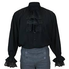 marcus jabot shirt black