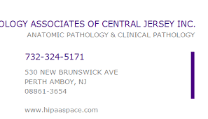 central jersey 1619287398 npi number pathology associates of central jersey inc