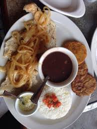 plancha cuisine pollo a la plancha white rice black beans with tostones picture