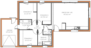 plan maison plain pied 3 chambres 100m2 plan maison 100m2 3 chambres 1 plain pied lzzy co plein newsindo co