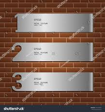 metal infographic background on brick wall stock vector 154142690