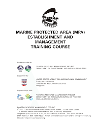 d agement bureau marine protected area establishment and pdf available