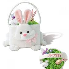 personalized bunny easter basket personalized bunny baskets lillian vernon