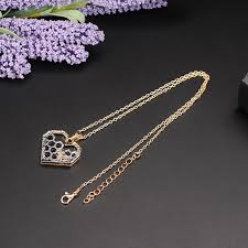 heart pendant choker necklace images X p charm fashion silver necklaces for women girl heart honeycomb jpg