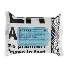 korres milk proteins cleansing make up removing wipes x25 free delivery feelunique