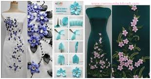 ribbon flowers how to make satin ribbon flowers with dress designs craft community