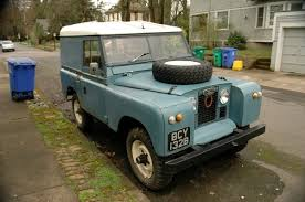 old land rover old parked cars 1965 land rover series iia