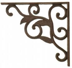 cast iron leaf vine shelf bracket custom shelves 8 75