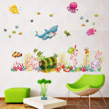 Removable Wall Decals For Baby Nursery by Awakink Stickers Awakink Tm Under The Sea Decals Whales The Deep