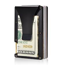 personal details resume minimalist wallet metal clippers mens money clips amazon ca