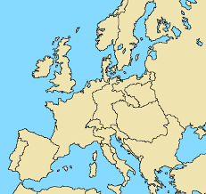 Map Of Eurpoe Blank Map Of Europe With Borders Calendar
