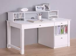 Computer Hutch Desk With Doors Furniture Sleek White Solid Wood Computer Desk With Hutch