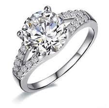 silver diamonds rings images Dropshipping wholesale 2ct excellent cut sterling silver jewelry jpg