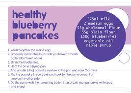 blueberry pancake recipe download freebie healthy blueberry pancake recipe cards katy bloss