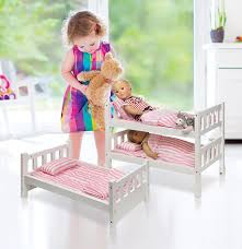 Badger Bunk Bed 1 2 3 Convertible Doll Bunk Bed With Bedding Pink