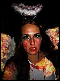 victoria secret angel halloween costume easy bloody fallen angel tutorial diy costume creature feature