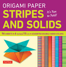 Quality Sheets Origami Paper Stripes And Solids 6