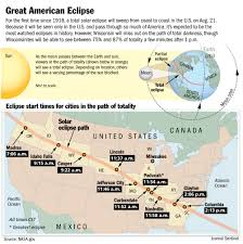 Map Of Kohler Wisconsin by Anticipation Builds For U0027fascinating And Wondrous U0027 Total Solar Eclipse