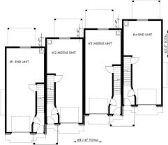Rental House Plans Townhouse Plans 4 Plex House Plans 3 Story Townhouse F 540
