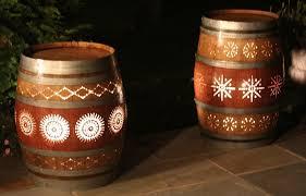 wine barrel porch light for sale recycled wine barrels lighting ideas trends4us com