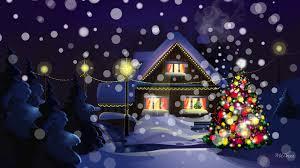winter snow christmas snowing warm tree traditional holidays lit