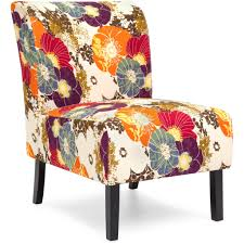 modern contemporary upholstered accent chair floral multicolor
