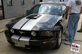 Black 2007 Mustang Cut Vinyl Racing Stripes