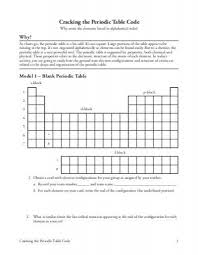 cracking the periodic table code worksheet answers cracking the periodic table code 49625539 photoshots luxury
