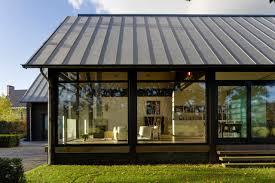 modern steel framed home in super minimalist interior design pics
