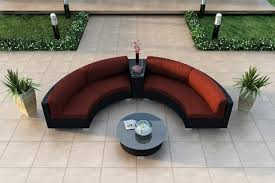 Round Outdoor Sofa Red Curved Outdoor Sofa Decorating Curved Outdoor Sofa