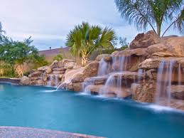 Landscape Rock Phoenix by Natural Rock Waterfalls Phoenix Landscaping Design U0026 Pool