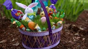 filled easter baskets greet with a grass filled easter basket