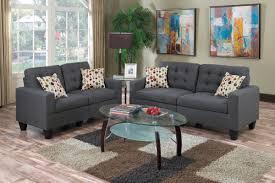 blue grey linen like fabric sofa u0026 love seat caravana furniture