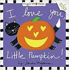 I Love Halloween - i love you little pumpkin padded cloth covers with lift the