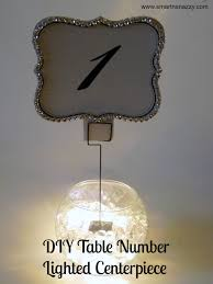 lighted centerpieces for wedding reception smart n snazzy wedding diy table number lighted centerpiece