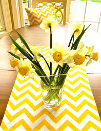 chevron table runner yellow wedding cloth 13x 72 decorative table