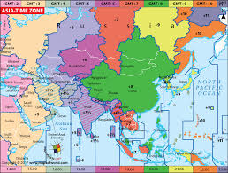 map of aisa asia time zone map current local time in asia