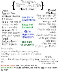 husband cheat sheet for a hypnobabies birth tips for birth