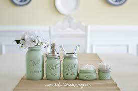 mason jar bathroom kit ball mason jars rustic home decor